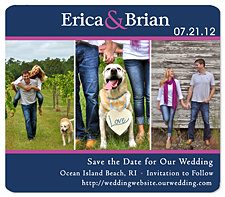 Love Sign Pet Save the Date
