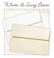 Envelopes - Basic White & Ivory