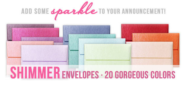 Shimmer Metallic Envelopes