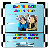 Refrigerator Magnet Save the Date